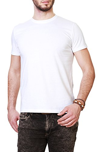 People Men's T-Shirt (8903880995584_PMKGT01FR116001_X-Small_White)  available at amazon for Rs.124
