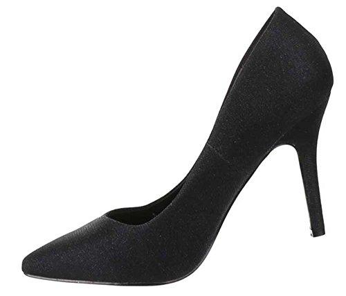 PUMPS braun schwarz NEU Absatz Gr. 40 Damen Schuhe hellbraun Frauen High Heels