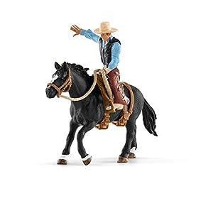 Schleich- Colección Farm World Monta de Bronco con Vaquero, 15 cm (41416)