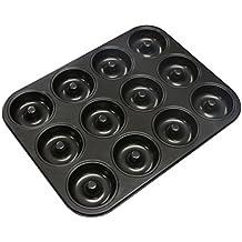 Webake 12er Mini Donut Backform für Donut Muffins Cupcake Bronnies Kuchen Puding antihaftbeschichtet Ø7cm