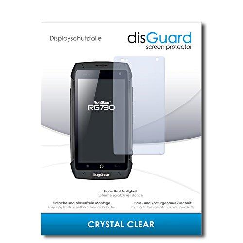 disGuard® Bildschirmschutzfolie [Crystal Clear] kompatibel mit Ruggear RG730 [4 Stück] Kristallklar, Transparent, Unsichtbar, Extrem Kratzfest, Anti-Fingerabdruck - Panzerglas Folie, Schutzfolie