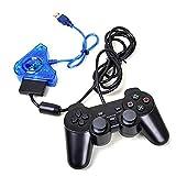 58 BH Dual Port Interface Converter USB Game Controller Adapter Kabel für PS1 PS2 PSX blau