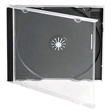 CD/DVD Jewel 10.4mm Boîtiers pour 1disque avec Plateau noir (Lot