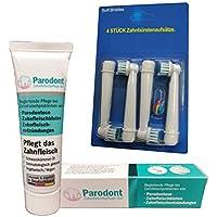 Beovita Parodont Gel (10ml) und Ersatzbürsten von OneBuy24 für Oral B Zahnbürsten 1x4 Stk. im Set