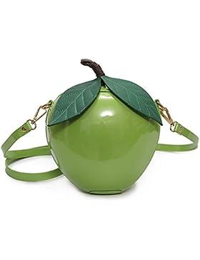 Aiffer Frauen Mädchen Mode Apfel Shaped Cute Messenger Bag Pu Leder Schulter Bag 3D Lovely Abendtasche Umhängetasche.