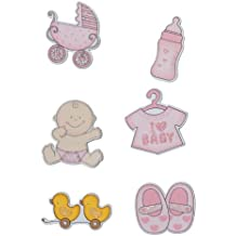 Bieco - Sticker Babymotive, Peti und Petrilla, blau oder rosa, (6 Stück)