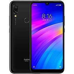 """Xiaomi Redmi 7 Smartphones 3GB RAM + 64GB ROM, Pantalla Full HD 6.26"""", procesador Octa-Core Snapdragon 632, Frontal de 8MP y cámara Trasera de 12MP + 2MP AI (Negro)"""