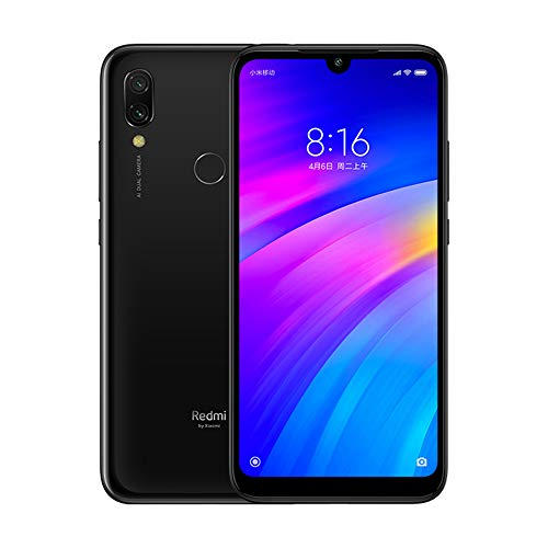 "Xiaomi Redmi 7 Smartphone 3 GB RAM + 32 GB ROM, 6,26 ""Full HD οθόνη, επεξεργαστής Octagon Snapdragon 632, Global Version (Μαύρο)"