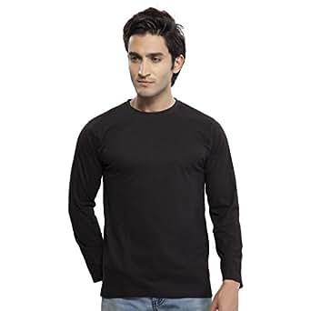 Clifton Men's Basic Full Sleeve Round Neck T-Shirt - Black