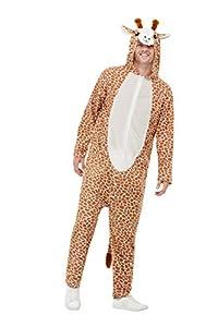 Smiffys 50713M - Disfraz de jirafa, unisex, para adulto, color marrón, talla M, 96,5-101,6 cm