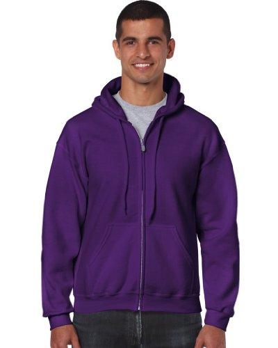 Gildan - Kapuzen Sweat-Jacke 'Heavyweight Full Zip' XL,Purple