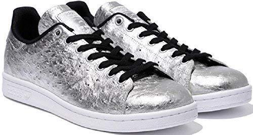 Adidas Originali Stan Smith Scarpe Sneaker in Vera Pelle Scarpe da Ginnastica Argento aq4706 - Argento, 42 EU