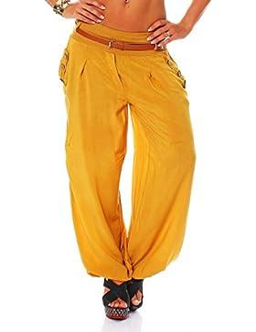 Malito Bombacho en el Chino-Look Boyfriend Aladin Harem Pantalón Sudadera Baggy Yoga 6019 Mujer Talla Única