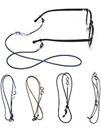 Titular Correa de Gafas de Sol Cadena Retenedor de Anteojos Lindo,Cable Cuerda Collar 2 Paquete Hombre Mujer Niños
