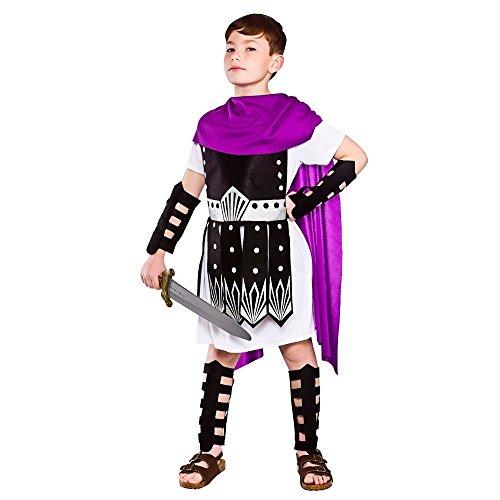 Roman Warrior Kids Fancy Dress Kostüm Groß - 8/10 Jahre - ()