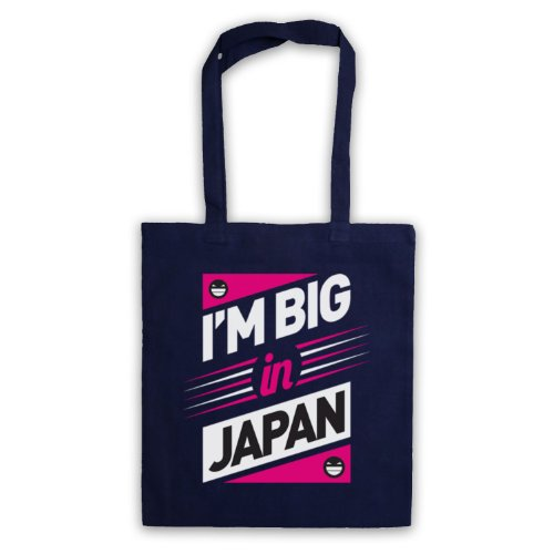 I'm, Big In Japan, Hipster Slogan Tote Bag Blu navy