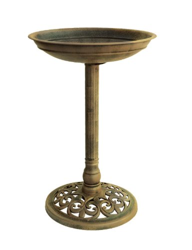 Traditional Bronze Pedestal Bird Bath