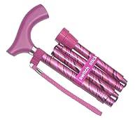 Switch Sticks Award Winning Folding Adjustable Walking Sticks Tango Pink Design