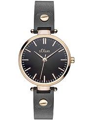 s.Oliver Damen-Armbanduhr XS Analog Quarz Leder SO-2889-LQ
