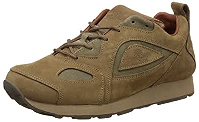 Woodland Men's Khaki Leather Sneakers - 10 UK/India (44 EU)