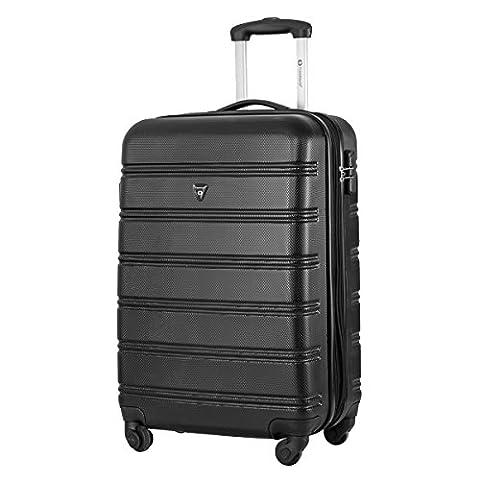 Travelhouse ABS Hard shell 4 wheel Travel Trolley Suitcase Luggage