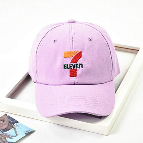 WUSYO Baseball Cap Stickerei Baumwolle Hut Frühling und Herbst Golf Hüte, lila - Neue Baseball-hüte ära