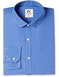 EX by Excalibur Men's Plain Regular Fit Formal Shirt (Pack of 2)