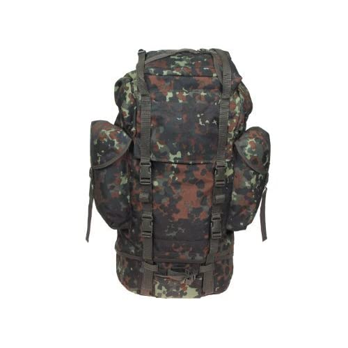 41TRI46QtOL. SS500  - Combat back pack with 3 outer pockets, German Army style, 65l. - BW camo
