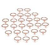 Danzh Ring Buchstabe Heart Ringe Für Frauen Paare Rose Gold Einstellbar Hochzeit Engagement Einfache Liebe Fingerringe Partei Mode Schmuck
