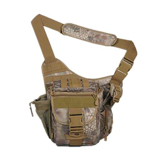 GOUQIN Outdoor Rucksack Klassische Mode Multifunktionshebel Schultergurt Messenger Bag Outdoor Rucksack 1 Camouflage