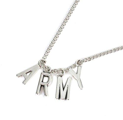 Amcool Herren Jungen Brief A.R.M.Y Anhänger Halskette KPOP BTS gtan Boys Halskette Ban