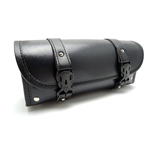 Universal Motorrad Werkzeugtasche Sissy Bar Taschen Roll PU Leder Motorrad Satteltaschen