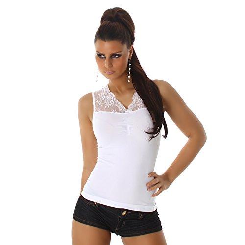 B[ ]X - Débardeur - Maillot de corps - Uni - Femme Blanc - Blanc
