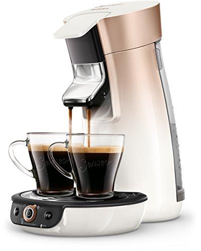 Philips Senseo HD6566/30 Viva Café Kaffeepadmaschine, 1450, Weiß/Kupfer
