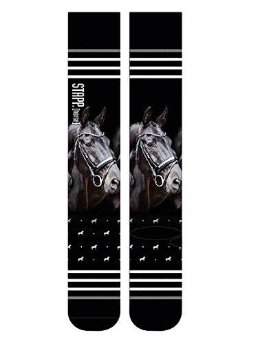 STAPP Horse® Socken PRINT Schuhgrösse 39-42, Pferdekopf Rappe
