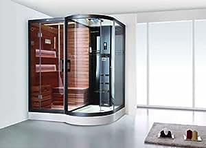 Crw Dampf Cabine & trockene Sauna Kombination 185x 138x 220cm