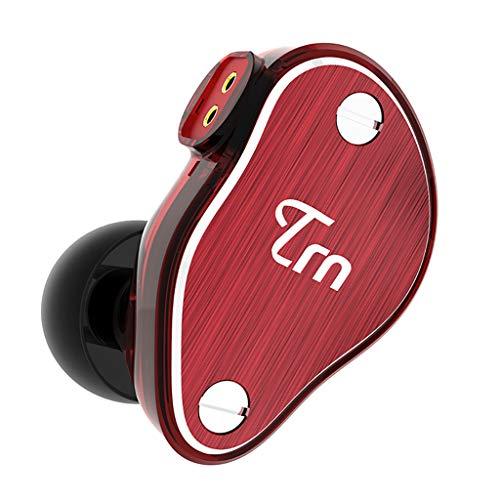 Yowablo In-Ear HIF Ring Eisen Kopfhörer Handy Subwoofer Kabel Headset (ohne Weizen) ( rot )