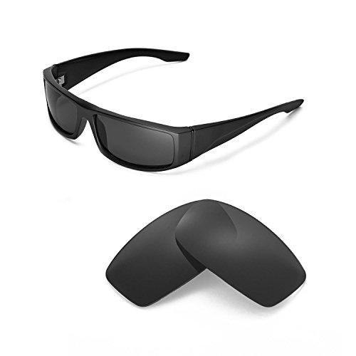 Walleva Ersatzgläser für Spy Optic Cooper Sonnenbrille - Mehrfache Optionen (Schwarz - polarisiert)