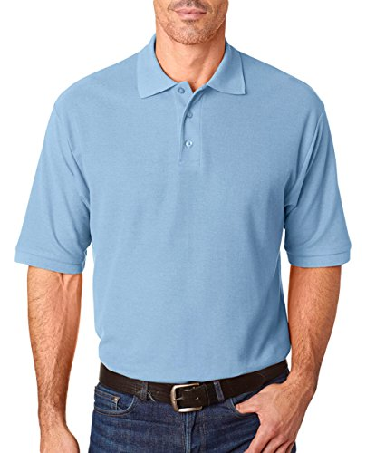 Jerzees Herren 5,3 oz 65/35 easy-caretm Polo Hellblau