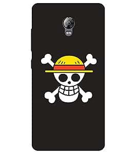 Chiraiyaa Designer Printed Premium Back Cover Case for Lenovo Vibe P1 (skull funny) (Multicolor)