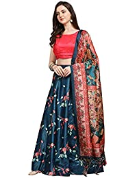 SIRIL Poly Silk Digital Printed Lehenga Choli Set