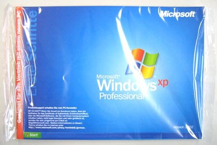 Microsoft Windows XP Professional 1-2CPU 32-Bit Systembuilder Edt. Version 2002 E85-02196 Original