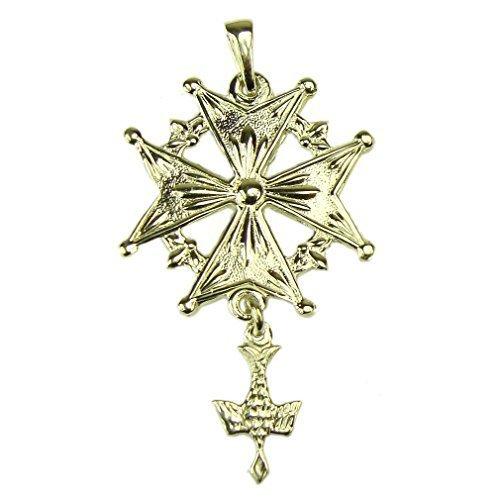 Souvenirs de France - Croix Huguenote Réversible - Matériau : Argent Plein, Plaqué Or ou Or Plein 18-Carats