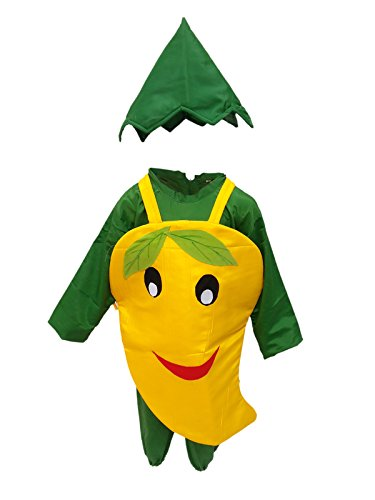 KFD Smily Mango fancy dress for kids,Fruits Costume for Annual function/Theme Party/Competition/Stage Shows Dress