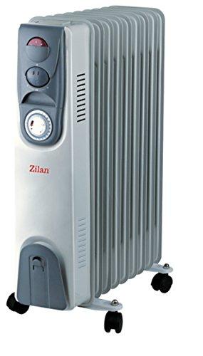 Öl Radiator mit 24 Stunden Timer | Radiator 9 Rippen | Elektroheizung | Heizkörper | Heater | Öl-Radiator | Elektro Heizung | Heizgerät | Heizkörper | 2.000 Watt | Zeitschaltuhr