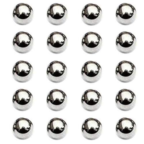 Nuluxi Bolas de Rodamiento Acero 15mm de Diametro Componentes de Rodamientos de Bolas de Acero Kit de Bolas de Rodamiento de Precisión Abrasión y Duro Utilizado para Productos Industriales-20 Piezas
