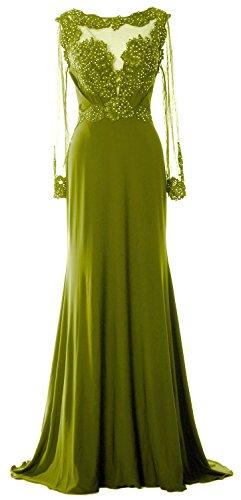 MACloth - Robe - Trapèze - Manches Longues - Femme Vert - Vert olive