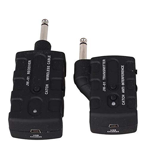 Kinderwagen von Geburt an erhältlich Universal 2,4 GHz wiederaufladbare drahtlose Gitarrensystem Wireless Audio Transmitter Receiver mit USB-Ladekabel (Farbe : Schwarz, Größe : Free Size)