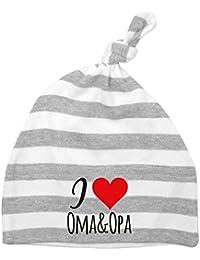 Mikalino Baby Mütze I love Oma & Opa