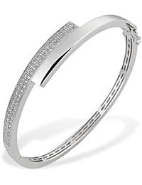 Goldmaid Damen-Armreif PremiumShine 925 Sterlingsilber 60 weiße Zirkonia Armband Schmuck
